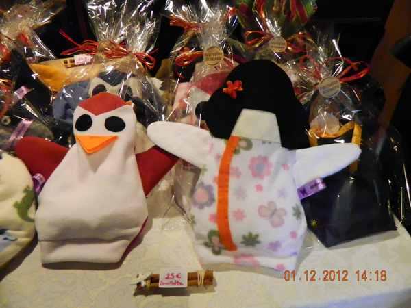 bouillottes sèches pingouins et geishas