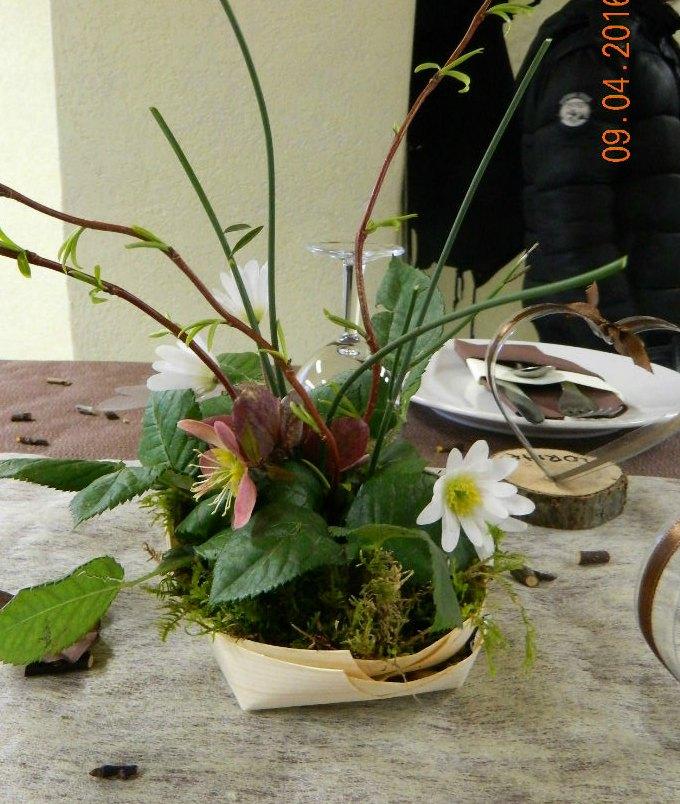 bouquet fleurs et mousse