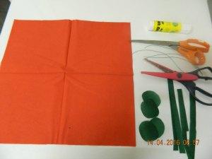 oeillets avec des serviettes en papier