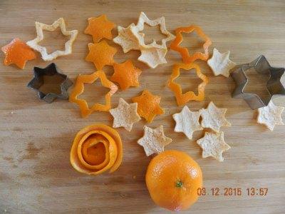 étoile  avec des oranges