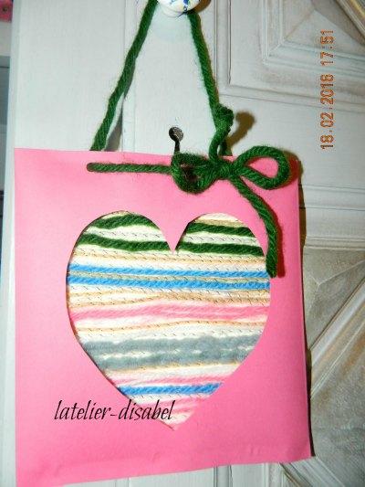 coeur en laine ,carte