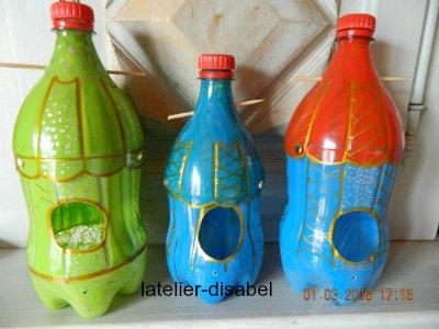 maison pour oiseau avec bouteille plastique